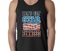 Lets Get Star Spangled Hammered Men Tank Top