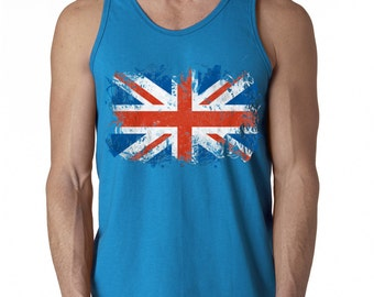 UK Flag British Flag United Kingdom Union Jack Men Tank Top