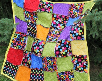 Sunshine Bright Rag Quilt