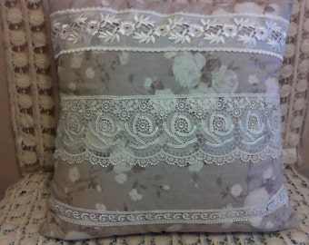 Linen & Lace Pillow