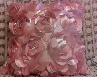 Pretty in Pink Flower Pillow