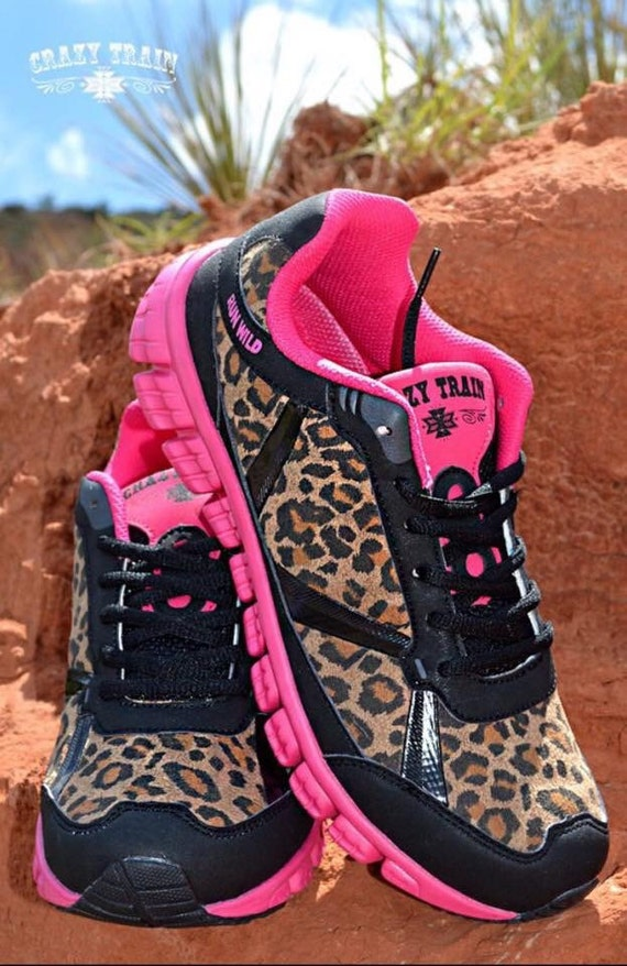 womens shoes pink cheetah tennis shoes by krystylstrendyfinds
