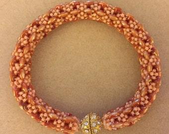 Handmade Czech bangle bracelet