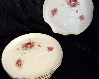 5 Vintage Clam-Shell  Tea Party Shabby Chic Luncheon/Dessert Plates