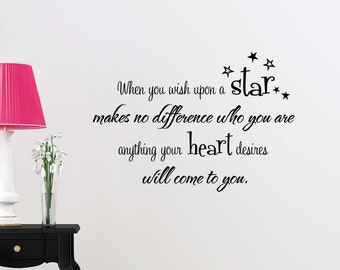 when you wish upon a star wall decal etsy