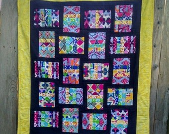 Brightly Patterned Baby/Toddler Quilt