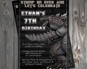 Godzilla Invitation