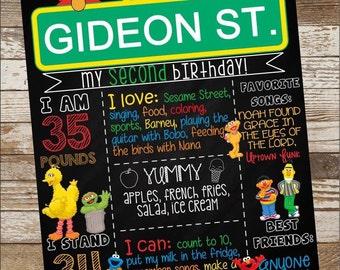Sesame Street Birthday Poster