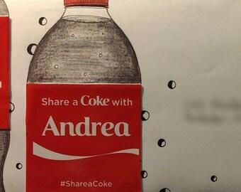 Share-a-Coke mail art envelopes