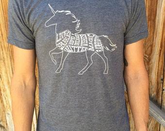 Unicorn Butcher Chart Men's Tshirt