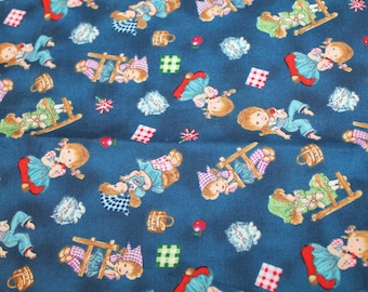 3/4 Yard Cotton Fabric - Gingham Picnic - Little Girls