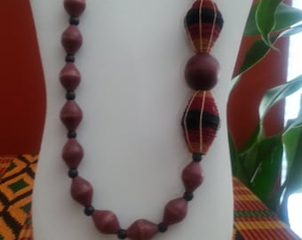 African, Mzuri,  African Jewelry, statement jewelry, ethnic, recycled, Paper beads, Mzuri beads handmade in Uganda