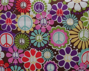 MICHAEL MILLER ** PEACE ** Boutique Designer Fabric for quilting, sewing, etc.