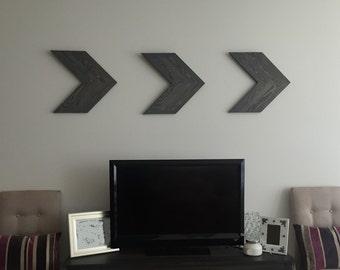 Decorative Wooden Chevrons Wall Art