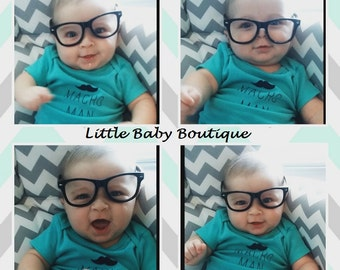 Lens free frames only black baby photo prop glasses ADORABLE!!!