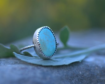 Starry Nights Turquoise Silver Ring