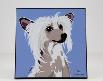 Chinese Crested Laminated Picture