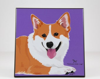 Corgi Laminated Picture