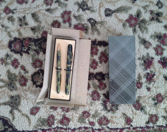 Vintage 14 Karat Gold Plated Pen and Pencil Set