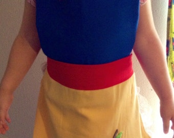 Snow White inspired apron/ costume Girl 3T up to 6T