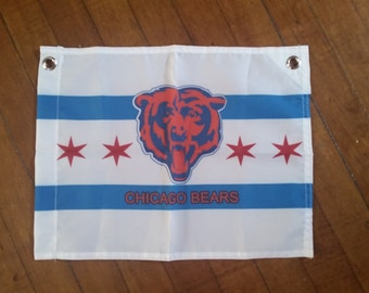 """Chicago Bears Flag 12"""" x 15"""" Limited Edition"""