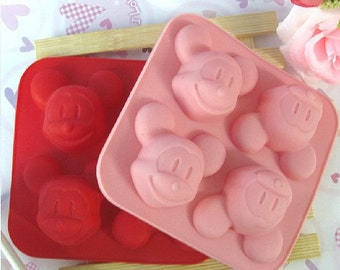 4-Mickey Mouse DIY mold Candy mold Chocolate mold Silicone Mold Crafts Cake Mold Soap Mould