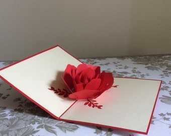 Rose Pop-Up Card Regular