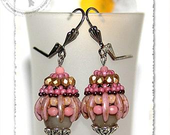 Mornala beaded earrings PDF pattern