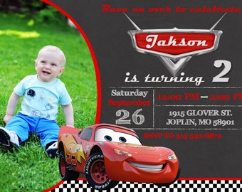 Disney Cars Invitation Birthday - Disney Cars Party