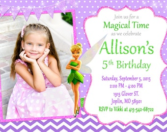 TinkerBell Invitation TinkerBell Birthday - TinkerBell Party