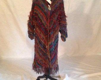 Pyramid Coat in Noro yarn