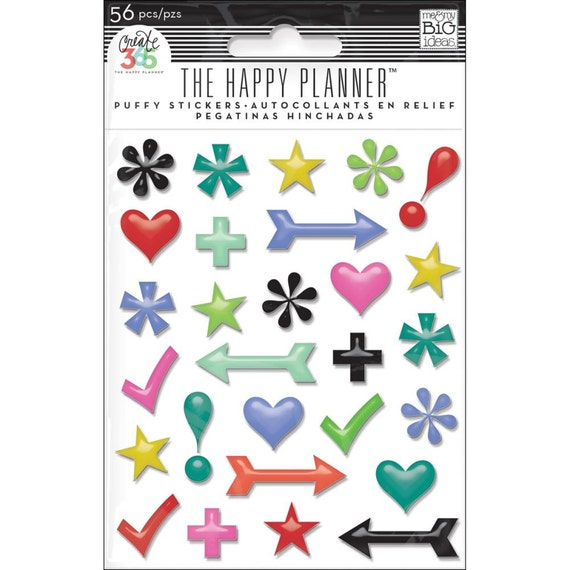 Items similar to 60pcs create 365 the happy planner puffy for Happy planner accessories