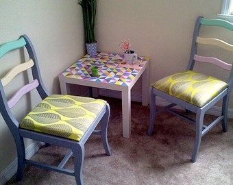 Pastel pair of chairs