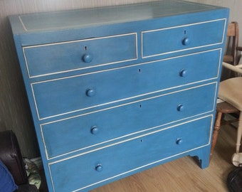 Painted 19th C Chest of Drawers