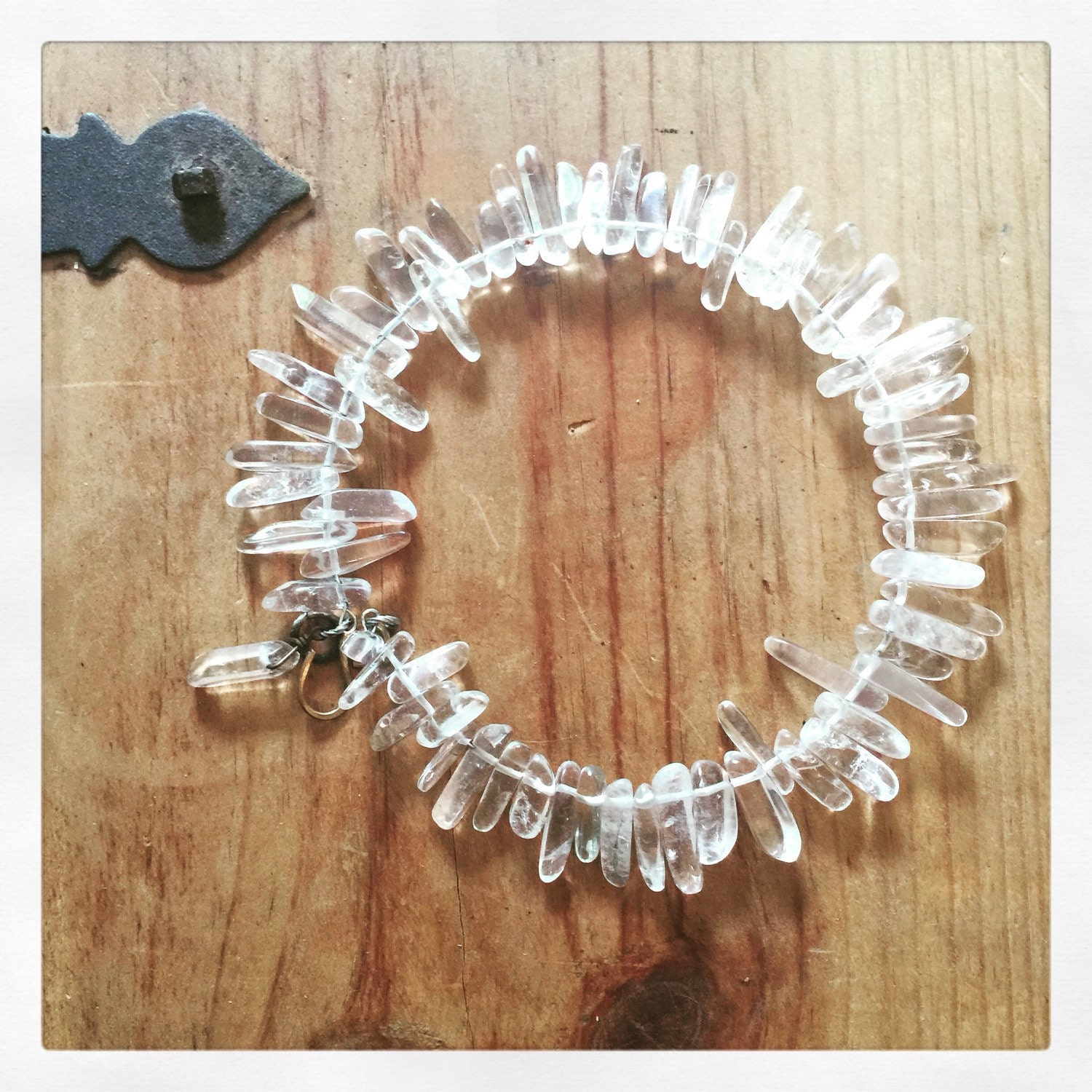 Long Crystal Necklace - ShopStyle