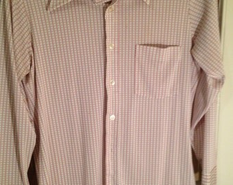 Vintage 70's mens long sleeve button down shirt