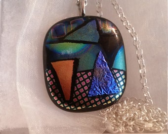 Glass Pendant with chain