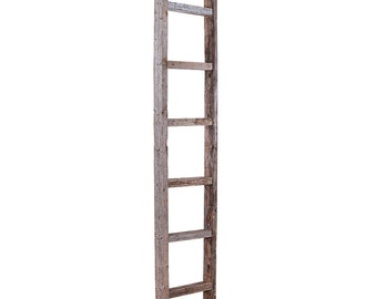 "Barnwood Rustic Decorative 6 ft Ladder, Weathered Gray,  72"" x 12"" x 2.5"""