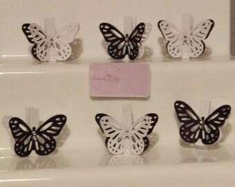 Butterfly Pegs pk 10