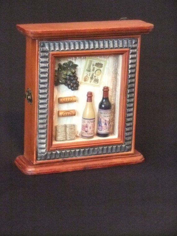 Wooden vintage key cabinet holder by sheba queen on etsy