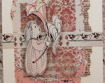 Vintage Theme Shabby Chic {Flower Child} Blank Card