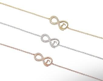 Infinity & Heart Bracelet 925 / Sterling Silver