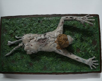 Crawling Zombie Sculpture