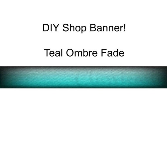 Etsy Shop Banner, Store Banner, Shop Branding, Teal Turquoise Green