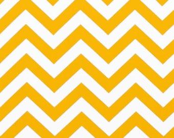 Premier Prints ZigZag Chevron in Corn Yellow Twill Home Decor fabric, 1 yard