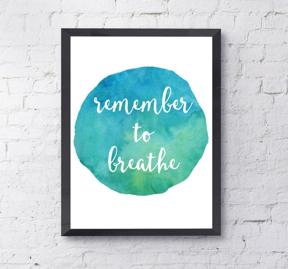 """Dashboard Confessional - """"Remember To Breathe"""" - Lyric Poster - Digital Print"""