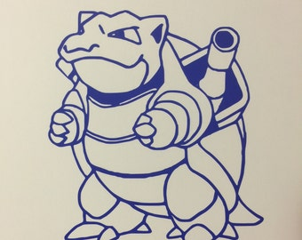 Blastoise Vinyl Decal