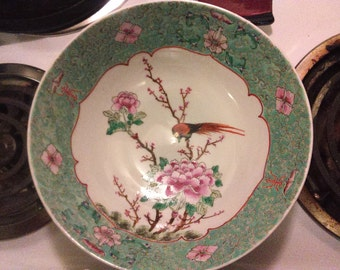 Japanese porcelain ware, hand decorated in hong kong large bowl