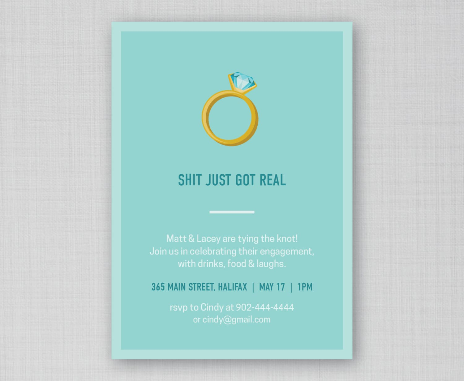 Funny Engagement Party Invitation Funny Bridal Shower – Creative Engagement Party Invitations