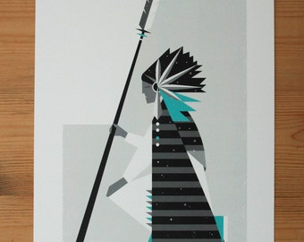 Chief - Limited Edition Signed Giclee Print A4